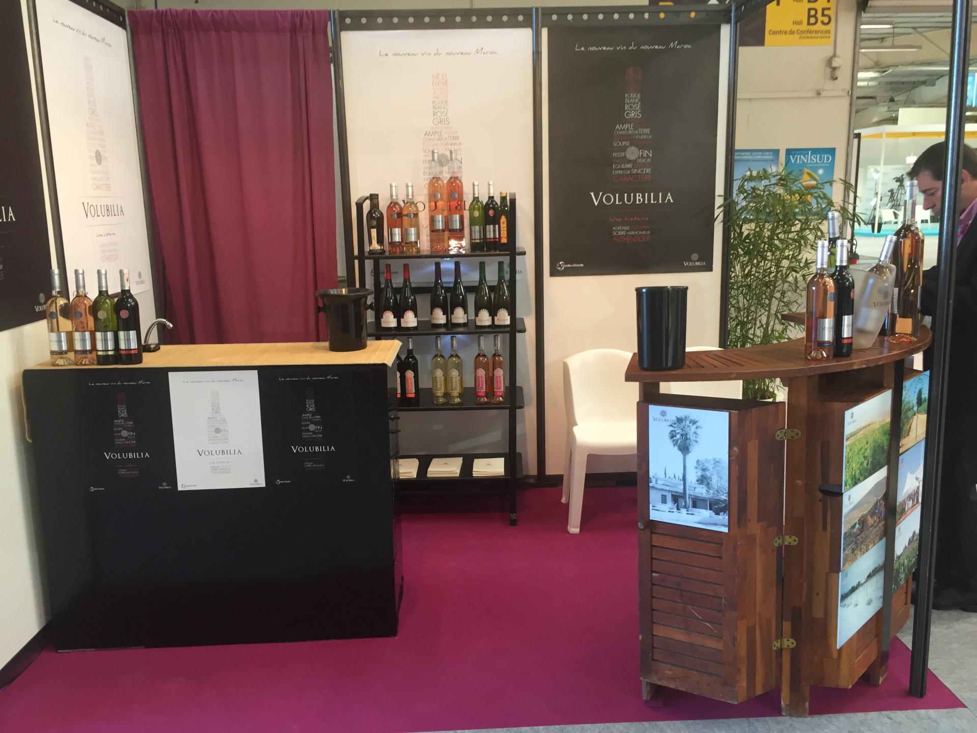 Le stand Volubilia au salon Vinisud (2016)